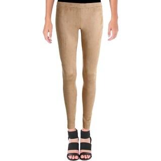 Kensie Womens Casual Pants Faux Suede Leggings