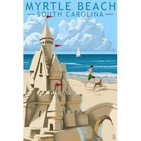 Myrtle Beach, SC - Sandcastle - LP Artwork (Art Print - Multiple Sizes)