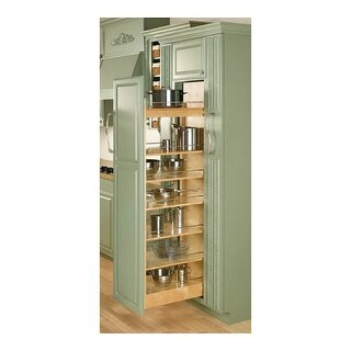 """Rev-A-Shelf 448-TP43-14-1 448 Series 14"""" Wide by 43"""" Tall Pull Out Pantry Cabinet Organizer with Four Adjustable Shelves"""