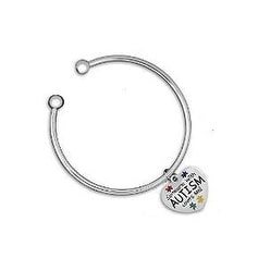Open Bangle Someone with Autism Loves Me Bracelet