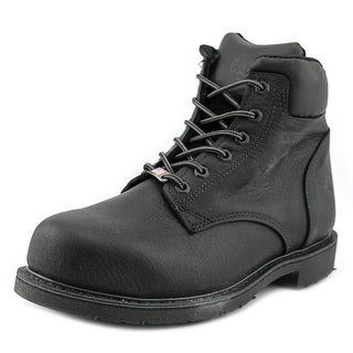 "Caterpillar Liberty St 6"" Men W Steel Toe Leather Black Work Boot"