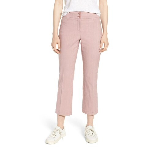 Nordstrom Signature Pink Womens Size 8 Cropped Stretch Pants