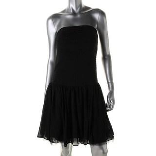 Zara Basic Womens Shutter Pleat Prom Cocktail Dress