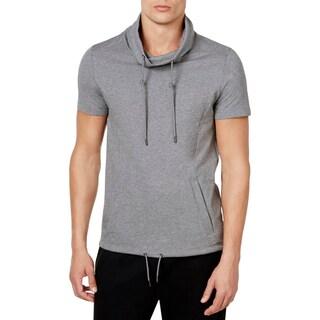 Calvin Klein Mens Funnel-Neck Sweatshirt Knit Heathered - L