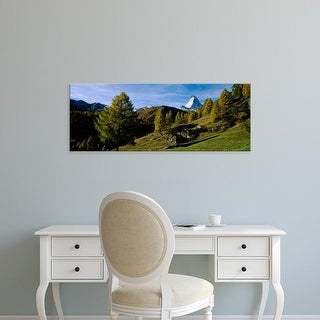 Easy Art Prints Panoramic Images's 'Low angle view of a mountain peak, Matterhorn, Valais, Switzerland' Canvas Art