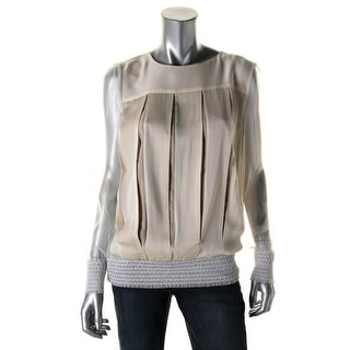 Catherine Malandrino Womens Silk Mesh Sleeves Blouse - 4