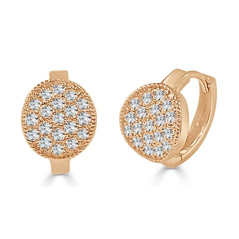 Diamond Earrings 14k Rose Gold 5/8ct TDW by Joelle Collection