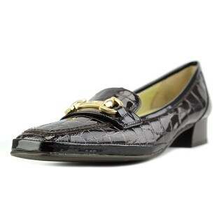 Amalfi By Rangoni Malta Women SS Round Toe Patent Leather Brown Loafer