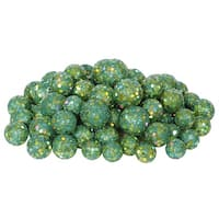 """60ct Lake Green Sequin and Glitter Christmas Ball Decorations 0.8"""" - 1.25"""""""