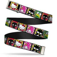 Hello Kitty Tulip Garden Fcg Black White Yellow Red Green  Chrome Web Belt