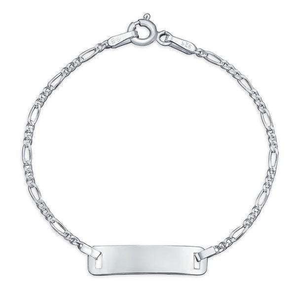 Identification ID Bracelet Figaro Name Plated Wrists Sterling Silver. Opens flyout.