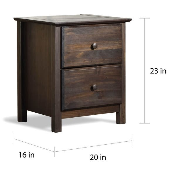 Grain Wood Furniture Shaker 2 Drawer Solid Wood Nightstand Overstock 10034813