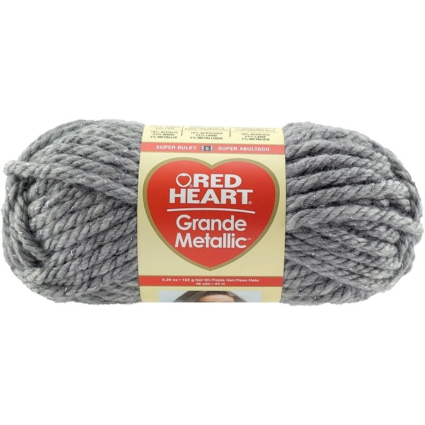 Red Heart Grande Metallic Yarn-Smoke