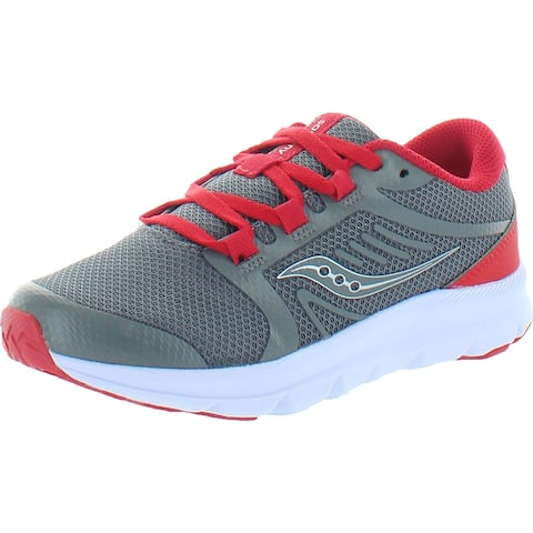 Saucony Boys Inferno Lite Walking Shoes Little Kid Lace-Up - Grey/Red
