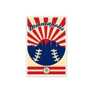 Minnesota - Vintage MLB - 16x24 Gallery Wrapped Canvas Wall Art