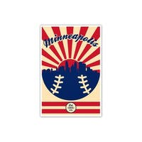 Minnesota - Vintage MLB - 24x36 Gallery Wrapped Canvas Wall Art