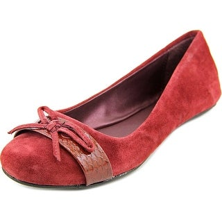 Kenneth Cole Reaction Truth Time Women Round Toe Suede Burgundy Flats