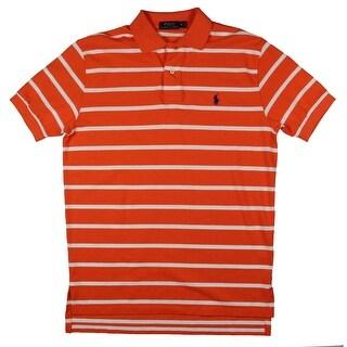 Polo Ralph Lauren Mens Polo Shirt Pique Striped - M