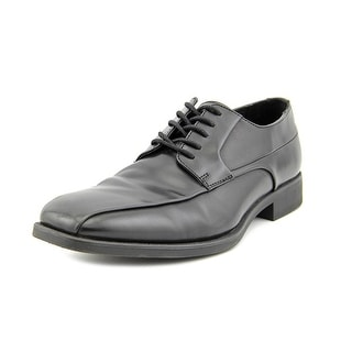 Calvin Klein Earl Men  Square Toe Leather Black Oxford