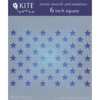 """Field Of Stars - Judikins Kite Stencil 6"""" Square"""