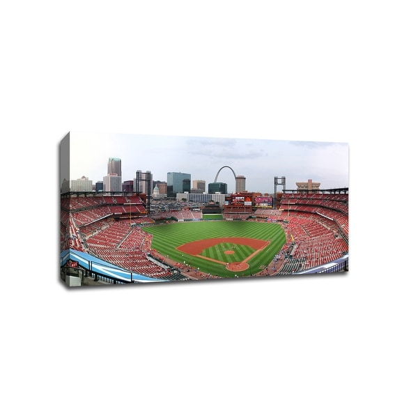 St. Louis - Busch Stadium - MLB Baseball Panoramic - 40x22 Canvas