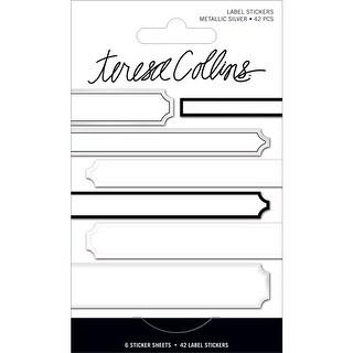 Signature Essentials Foil Label Stickers 42/Pkg-Silver