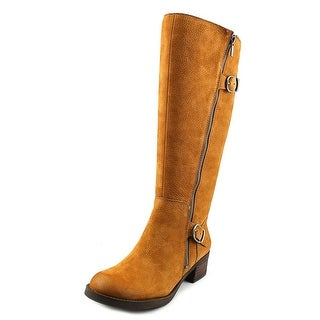 Lucky Brand Hoxy   Round Toe Leather  Knee High Boot