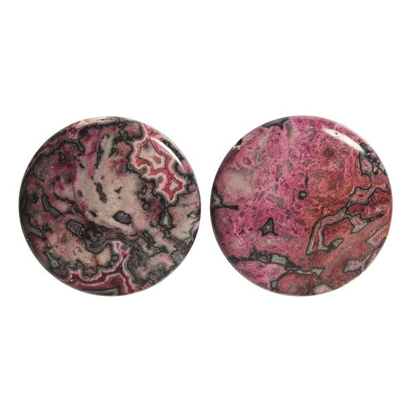Red Pink Laguna Lace Agate (D) Coin Beads 25mm - 4 Beads