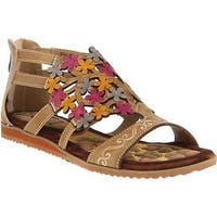 L'Artiste by Spring Step Women's Maribel Flat Sandal Taupe Leather