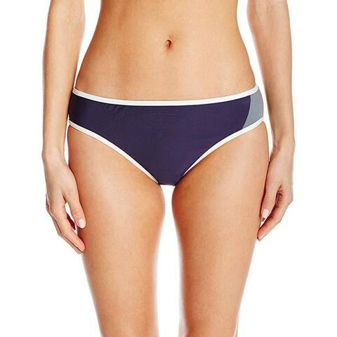 Nautica Women's Block and Tackle Retro Bikini Bottom, Navy, 8