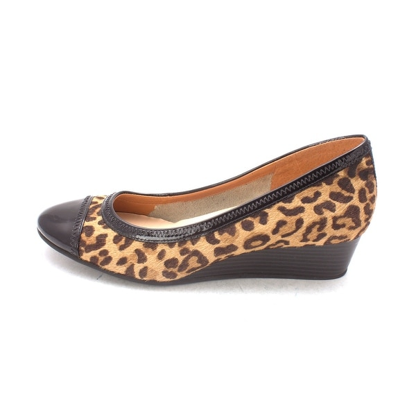Cole Haan Womens Fernesam Cap Toe Wedge Pumps, Leopard Print, Size 6.0