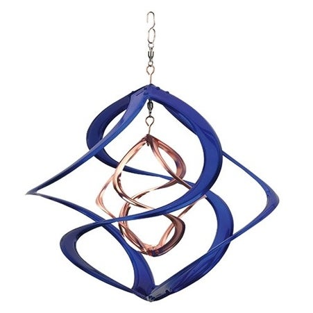 """Colored 14"""" Double Wind Spinner Blue"""