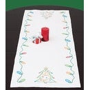 """Stamped Table Runner/Scarf 15""""X42""""-Christmas"""