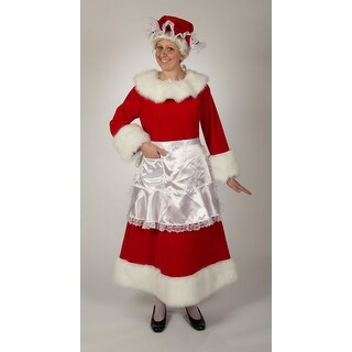 3 Piece Regal Red Velvet Mrs. Claus Dress with White Trim  Size X-Large