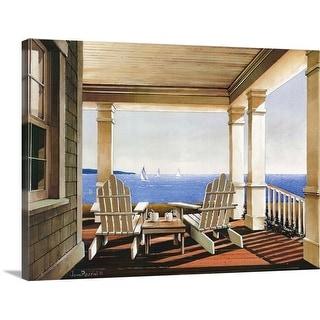 """Veranda View"" Canvas Wall Art"