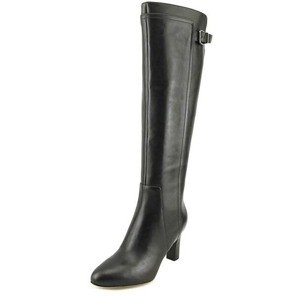 5c3b28da0c0 Shop Via Spiga Parca Women Pointed Toe Leather Black Knee High Boot ...