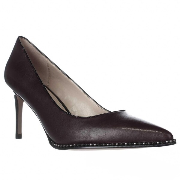 Coach Vonna Pointed Toe Stud Lined Pumps, Warm Oxblood