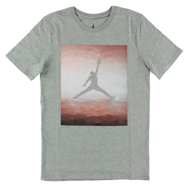 7481360ca5498c Shop Jordan Mens Fractal Fade T Shirt Grey - Free Shipping On Orders Over   45 - Overstock.com - 22613915