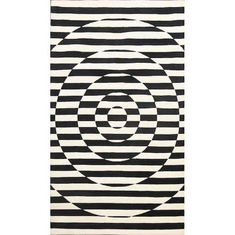 "Wool/ Silk Highlight Oriental Modern Area Rug Hand-tufted Carpet - 5'0"" x 8'0"""
