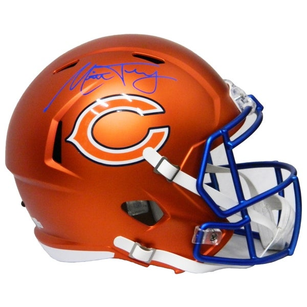 36070ed08ac Shop Mitchell Trubisky Chicago Bears Blaze Riddell FullSize Replica ...