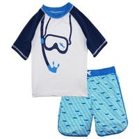 iXtreme Boys Snorkeling with Fish Rashguard Shirt Swim Trunk Board Short
