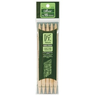 "Takumi Bamboo Double Point Knitting Needles 7"" 5/Pkg-Size 15/10mm"