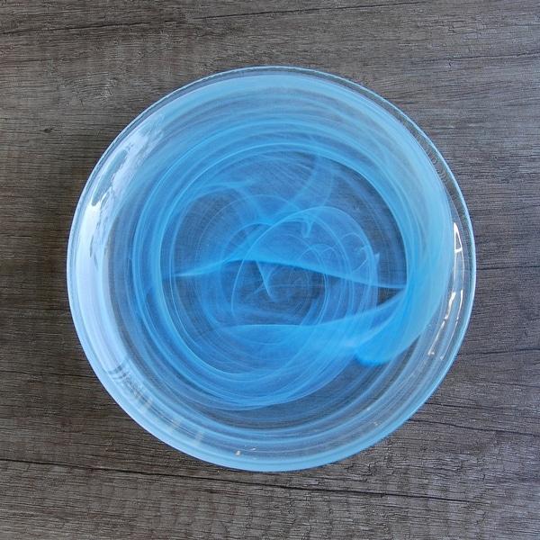"NUAGE Aqua 6.5"" Canapé Plate. Opens flyout."