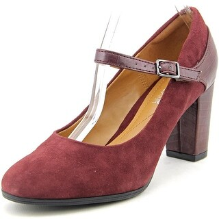 Clarks Narrative Bavette Cathy Women  Round Toe Suede Burgundy Mary Janes