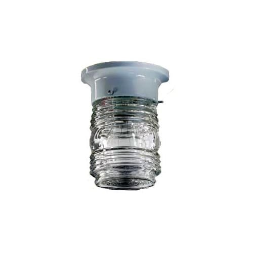 Quorum International Q3009-3 1 Light Flushmount Ceiling Fixture with Clear Ribbed Glass Shade