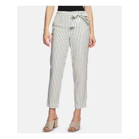1. STATE Womens Ivory Striped Evening Pants Size 12