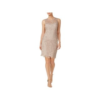 Calvin Klein Womens Petites Cocktail Dress Crochet Party