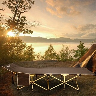 Outdoor Portable Camping Cot Folding Sleeping Bed with Storage Bag Hiking Travel