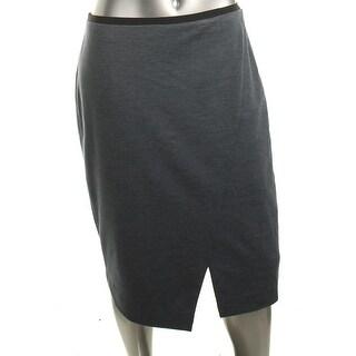 T Tahari Womens Straight Skirt Solid Knee-Length