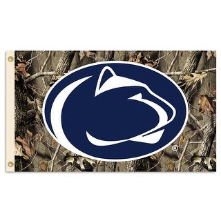 Penn State University Nittany Lions Camo Flag
